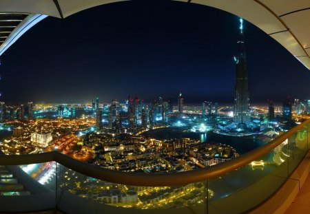 Spectacular Dubai - evening view, night lights, cityscapes, nature, dubai