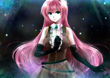 megurine luka  ah my goddess  anime background