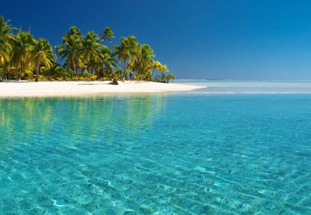 tropical white beach crystal clear water beaches nature