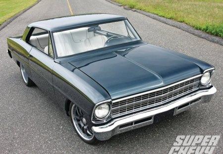 1967 Chevy Nova - classic, gm, bowtie, white interior