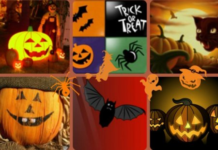 ~~Trick or Treat~~ - abstract, halloween, pumpkins, collages