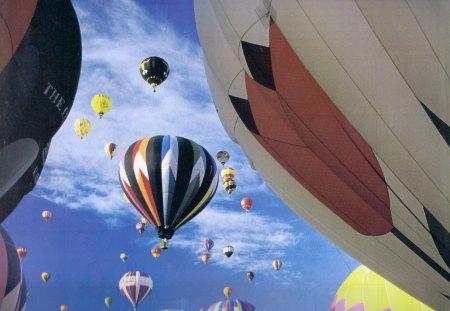 Hot Air Balloon 2 - air, balloon, clouds, sky