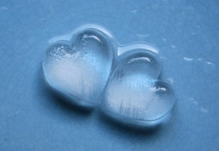 HEARTS OF GLASS - hearts, valentine, blue, shine, glass, glossy, love