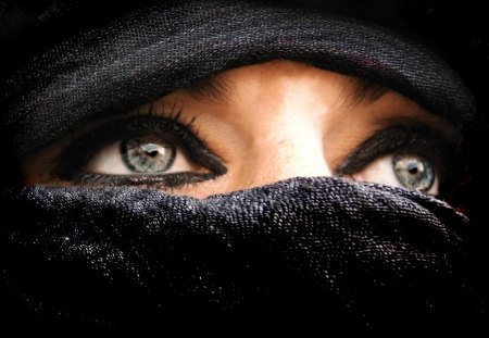 even a burka can't hide beauty - beauty, hazel, eyes, burka