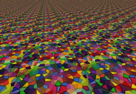 Miles of Tiles - tiles, multicolored, tiling, squares