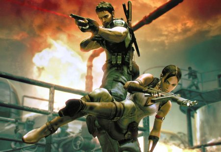 resident evil 5 - chris and sheva, resident evil 5