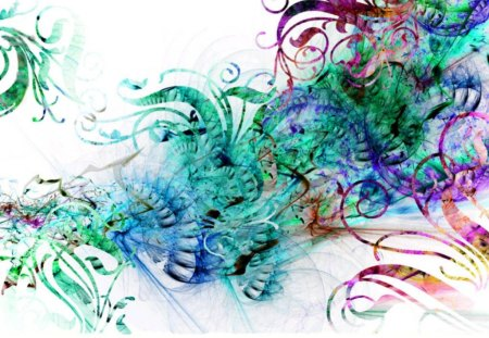 Colorful swirls - colors, abstract