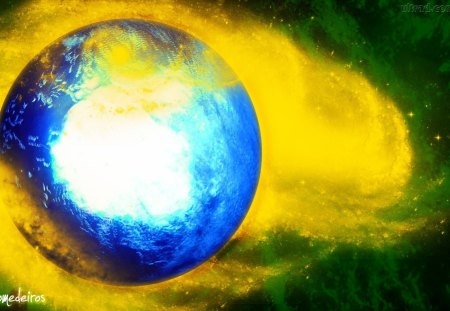 Brasil - amarelo, blue, bandeira, banner, yellow, brasil, verde, green, azul