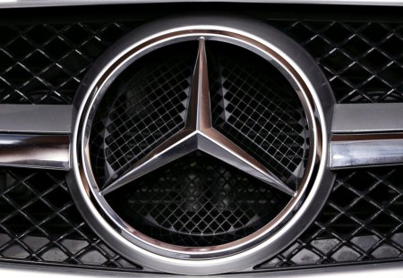 Mercedes Emblem - car, grill, mercedes, chrome