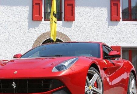 Ferrari F12 berlinetta - f12, berlinetta, red, ferrari