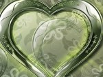 Crystal green hearts
