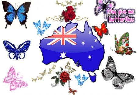 Butterflies For Sheryl (Flutterby) - digital, beautiful, abstract, art