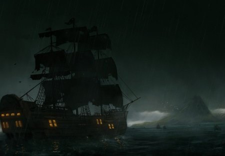 Pirate Ship - Other & Boats Background