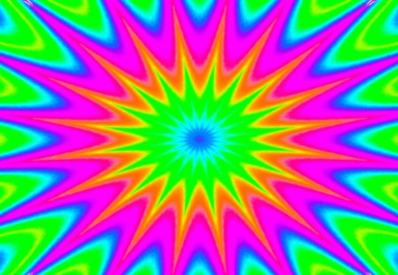 abstract caleido rainbow - gizzzi, sunny, pink, yellow, sun, lime, blue, rainbow, orange, labrano, green, abstract, red, caleidoscope, cyan