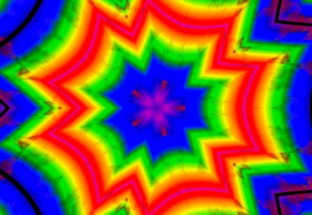 abstract rainbow caleido 03 - gizzzi, yellow, blue, rainbow, purple, happy, orange, life, labrano, green, red, caleidoscope