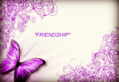 Delightful Friendship - friendship, butterflies, lace, abstract, 3dandcg