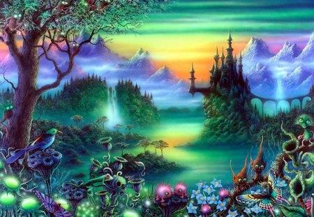 Magic Castle - fantasy, magic, abstract, castle