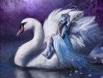 little blue fairy girl