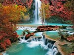 Waterfall Autumn Beauty