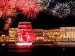 Fireworks over St. Peterburg