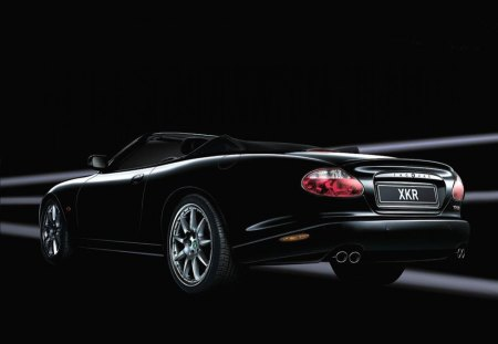 Jaguar XKR - black, jaguar, xkr, car