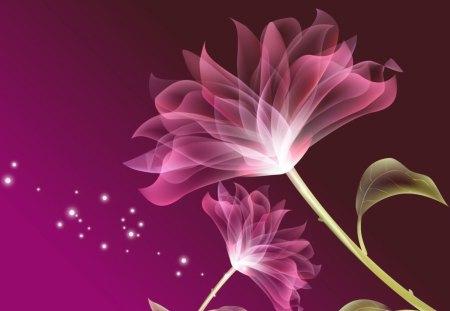 Digital Pink - pink flower, pink, art, abstract, flower, digital art