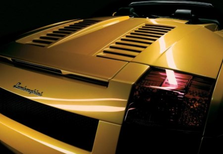 lamborghini - car, yellow, cabrio, luxury, lamborghini