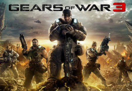 gears of war 3 - game, war, accion, shooter