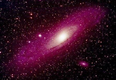 Galaxy - universe, space, stars, pink, galaxy