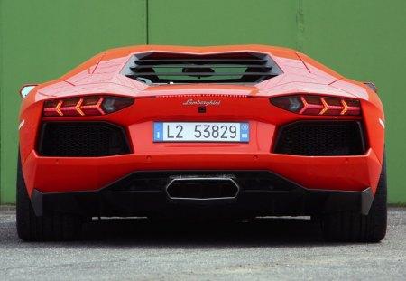 Lamborghini - lamborghini, car, aventador, red, cars