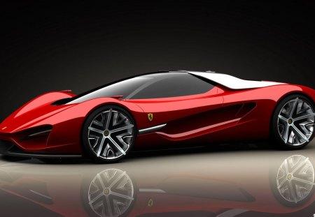 cool ferrari 456 - reflection, car, chrome, res