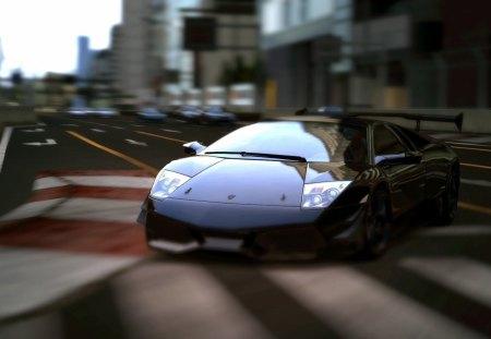 lambroghini GT5 - car, focus, shiny, race track