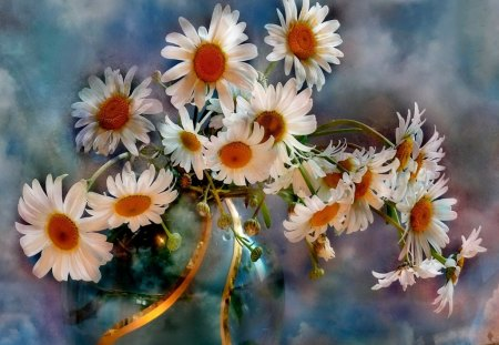 Flowers for my friend Ewa (Stokrotka) - flowers, friendship, harmony, nice, camomile, vase, beautiful, lovely, daisies, pretty, still life, delicate, gift, love