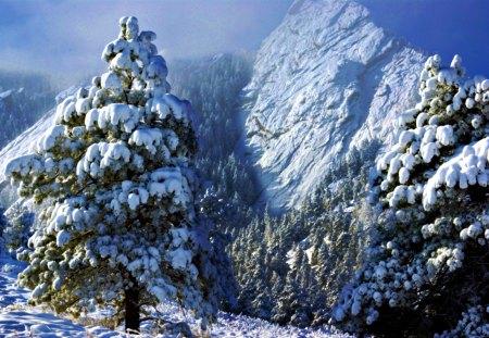 Flatiron Mountains First Snow - digital, beautiful, abstract, art