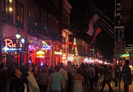 A Shot Of Bourbon (Street) - people, lights, night, street