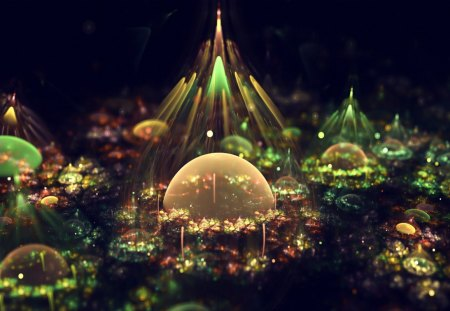 world of wonder - beauty, colorful, fantasy, artistic, city, abstract