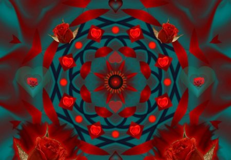 Ring around the Rosey - eye candy, abstract, collage, 3d, fractal