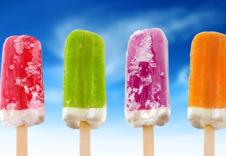 Ice Cream - pink, green, orange, red