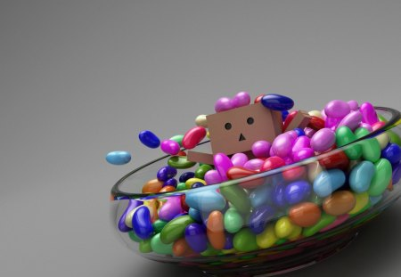 Danbo - bowl, danbo, sweets, candy, box