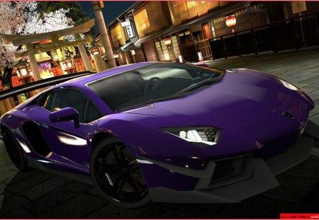 Lamborghini Aventador - lambo, purple, aventador, lamborghini