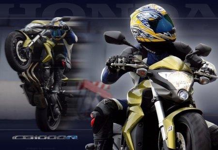 Honda CB 1000 - motorcyclist, sport, honda cb 1000, motorcycles, biker