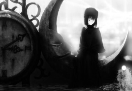 Clock Lady - manga, clock, anime, lady, shadows