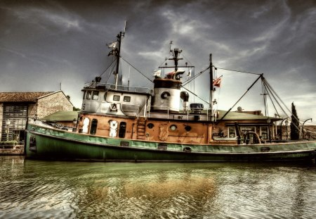 the boat - fishing, harbour, water, industry