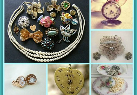 *Jewellery of the 1920's* - abstract, vintage, collage, jewellery