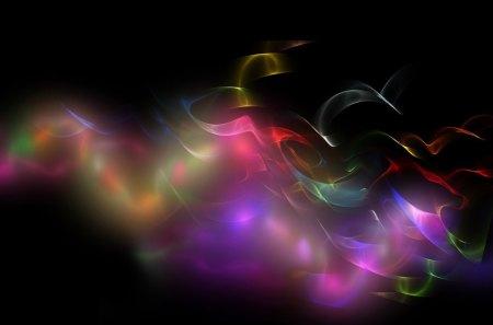 SPIRIT OF THE RAINBOW - fantasy, colours, kaleidoscope, mindteaser, black, rainbows