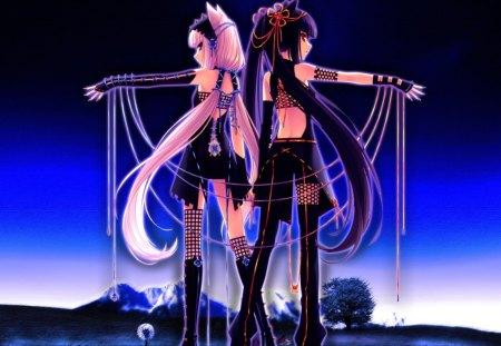 Catgirl Chocola & Sayori Vanilla - pretty, anime, girls, cute