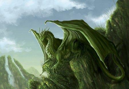 Green Dragon Fantasy Abstract Background Wallpapers On Desktop Nexus Image 1180786