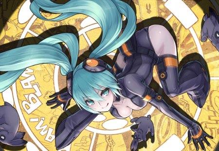 Anime - miku, spotlight, anime, thief, vocaloid, mask, rabbit