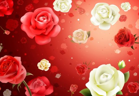 Roses - flowers, blooms, nice, petals, buds, nature, beauty, lovely, texture, blossoms, delicate
