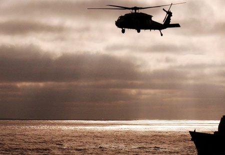 Military Activity - military, battleship, helicopter, ocean